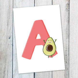 postkarte A avocado bg