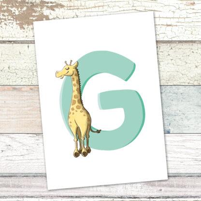 postkarte-giraffe