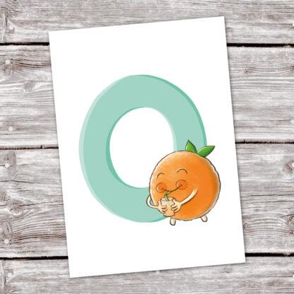 postkarte-orange