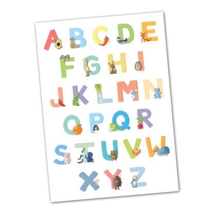 Postkarte Alphabet ABC