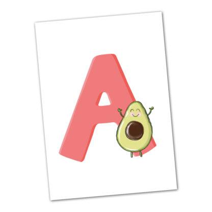 postkarte A Avocado