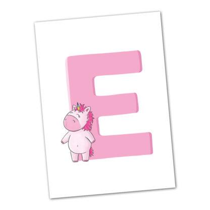 postkarte einhorn unicorn
