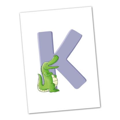 postkarte krokodil alligator