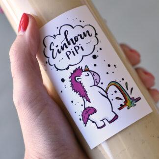 Einhorn Pipi Etikett